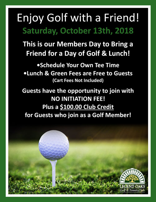 member guest day Oct 2018WE