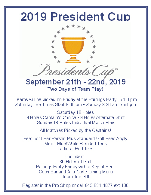 Presidents Cup Sept 21 22