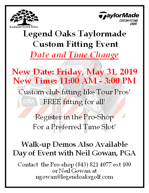 Taylormade fitting event May31