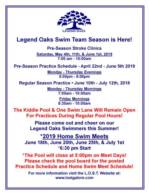 swim team 2019 Prac Meet