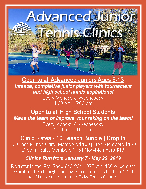 Advanced Afterschool Clinics Jan May 2019 WEB