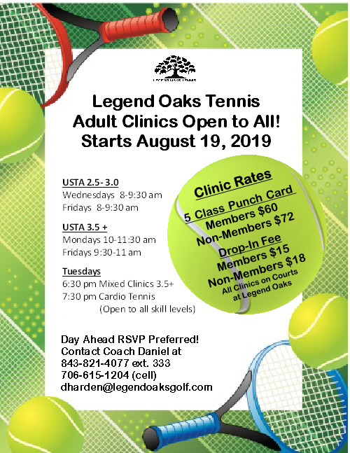 Fall Adult Tennis Clinics 2019 JPG 9 25 19