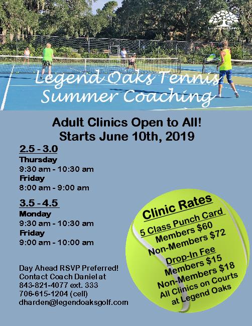 Summer Adlt Clinics2019
