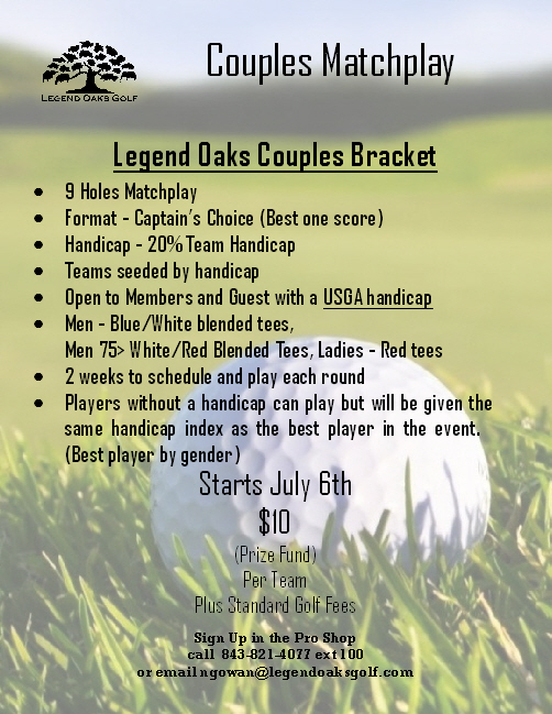 Couples Matchplay July 6th Start