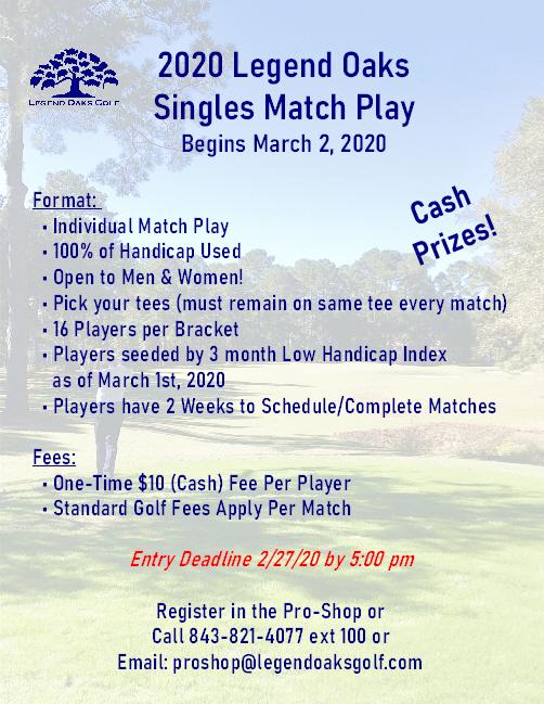 singles match play 2020