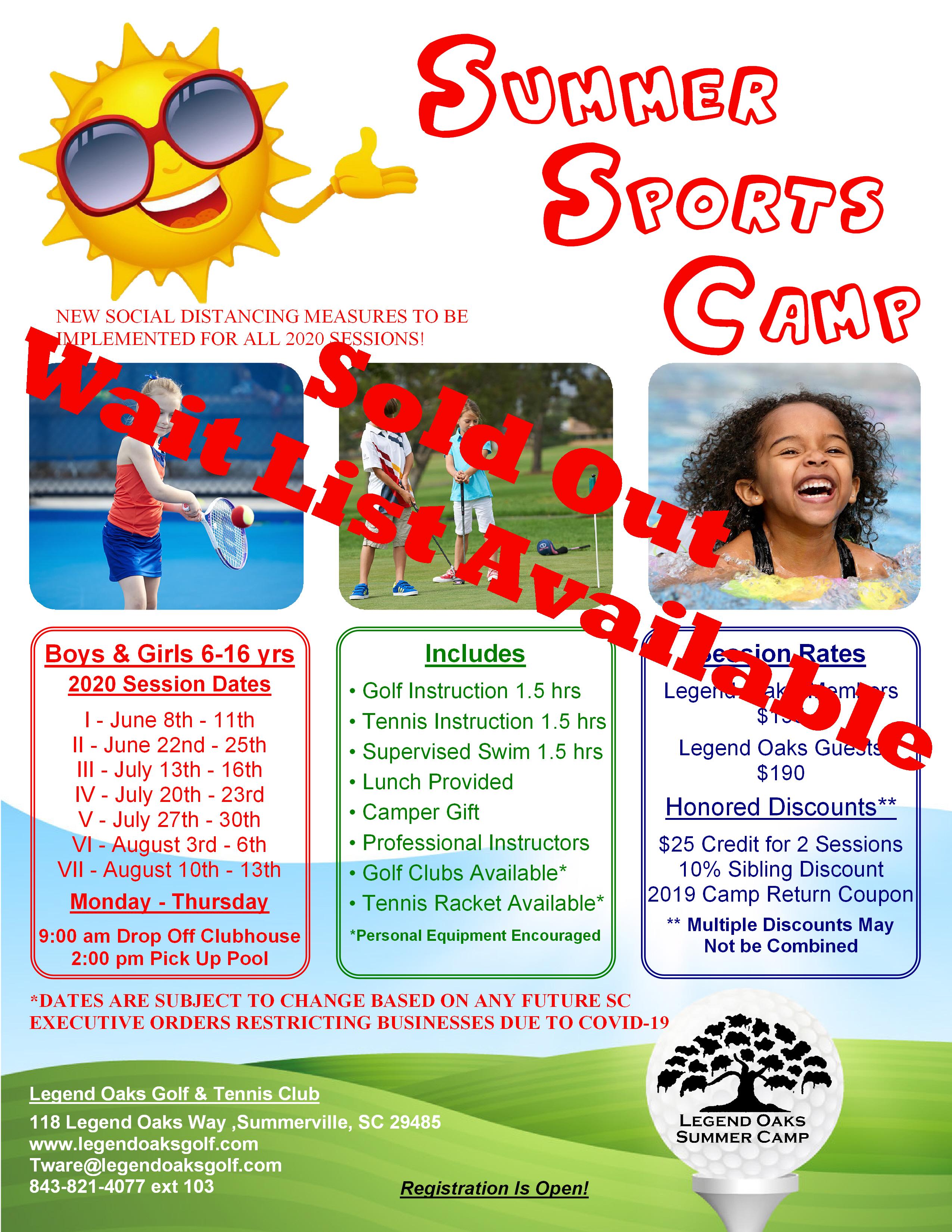 Summer Camp Wait List
