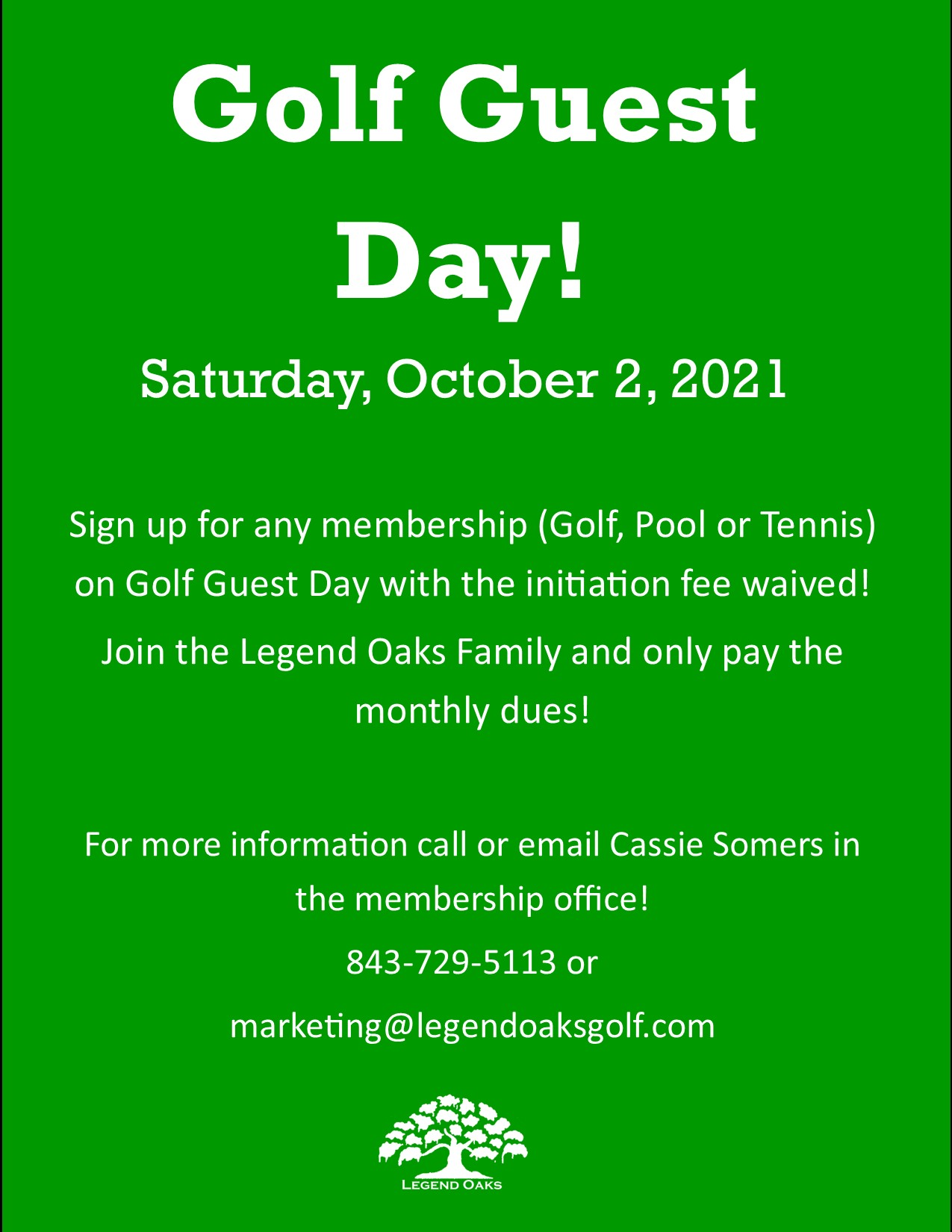 Golf Guest Day 10 2 21