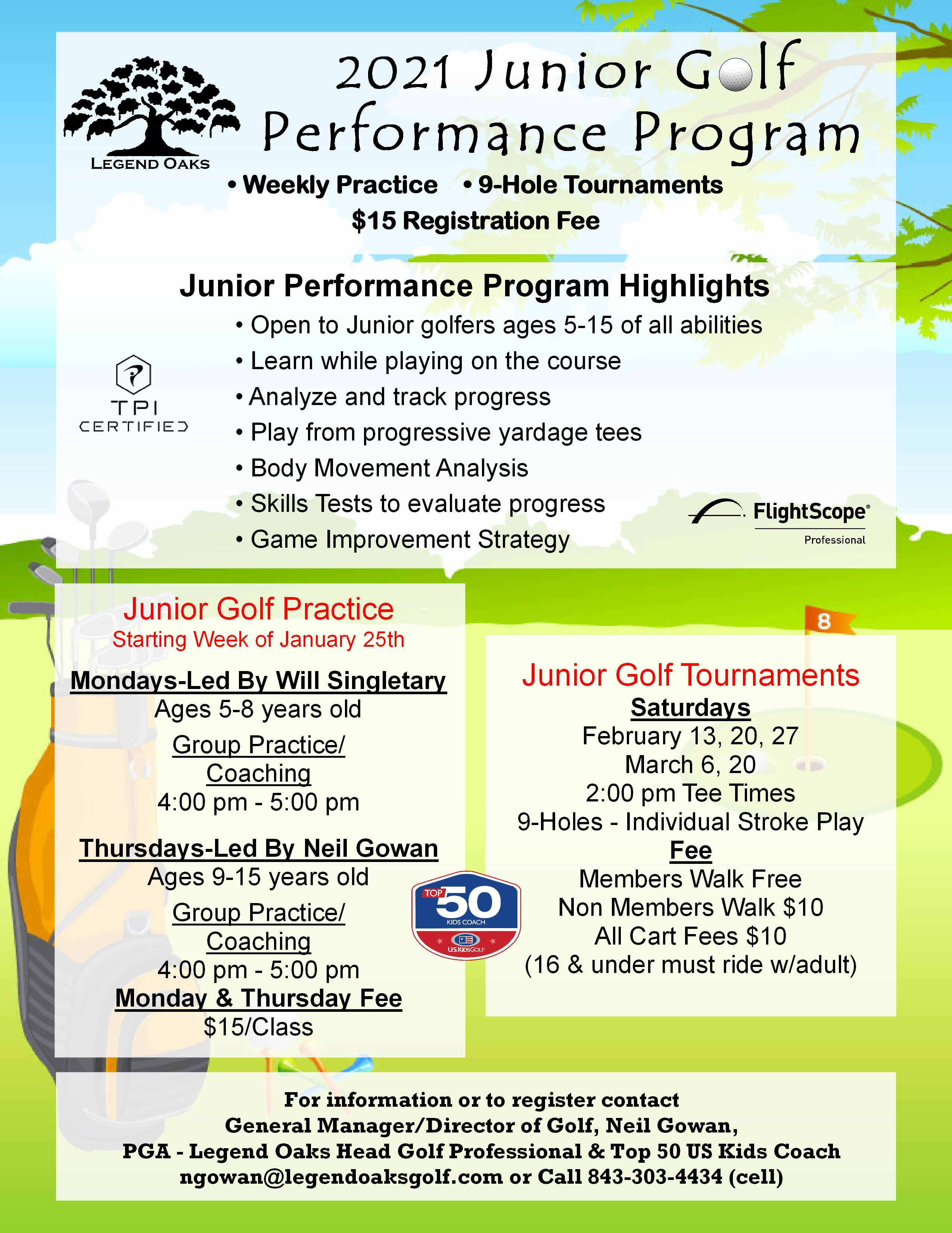 Junior Golf Pref 2021