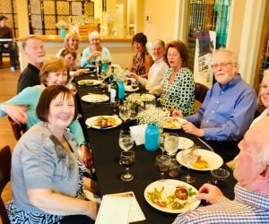Long Table Guest Enjoying Dinner at Fine Dining Night in Spring 2019